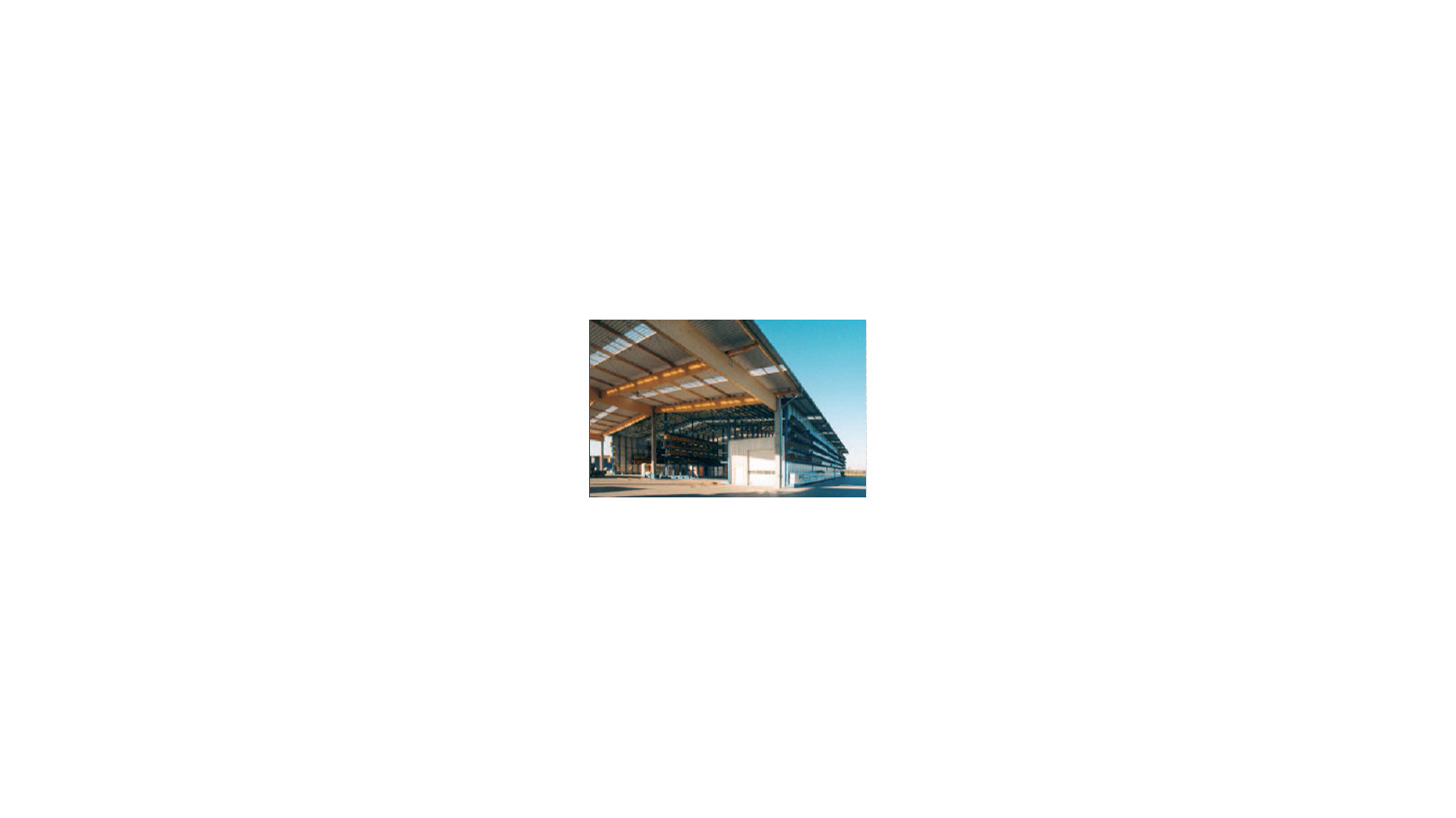 Logo Self supporting rack warehouses with roof and wall cladding