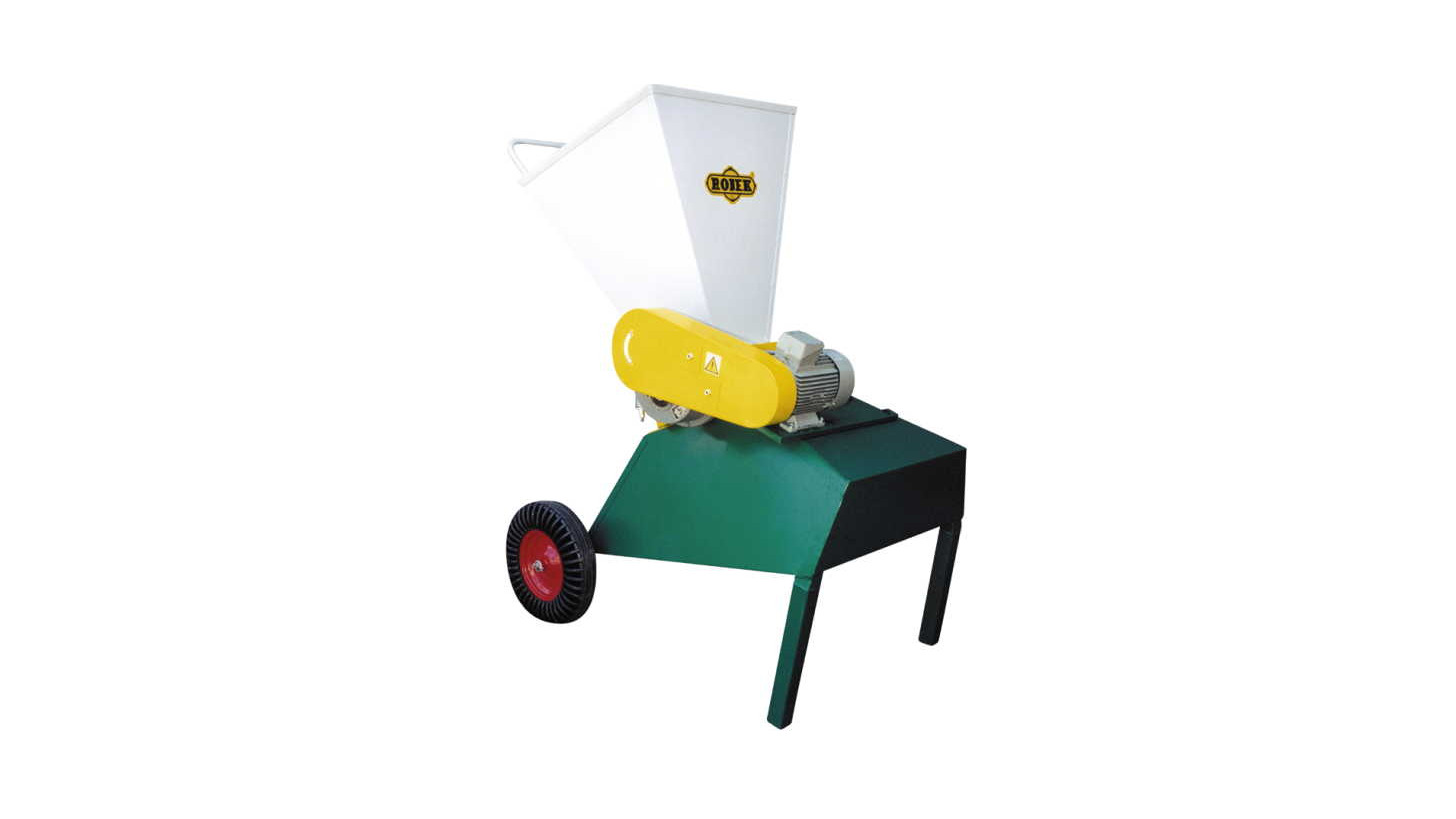 Logo Wood Crusher with Electric Motor.