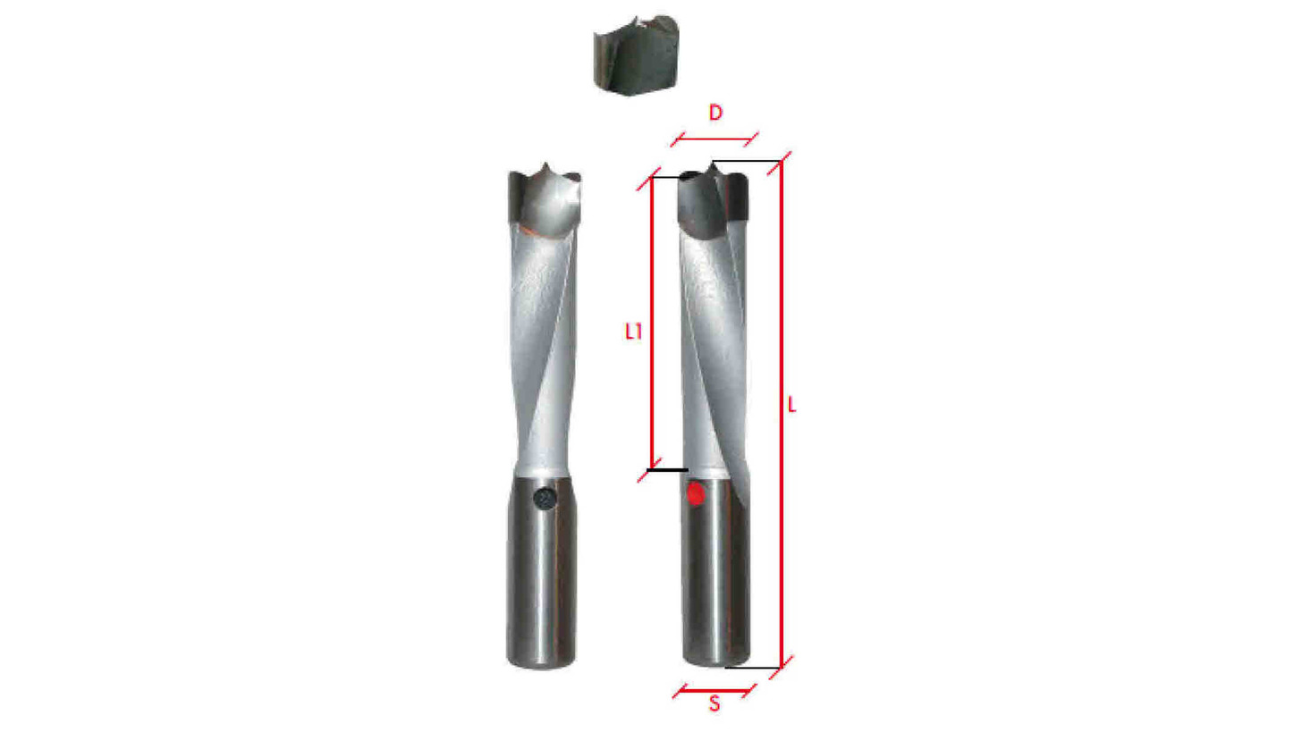 Logo Dowel Drill Bits, twist drills, throughhole drills