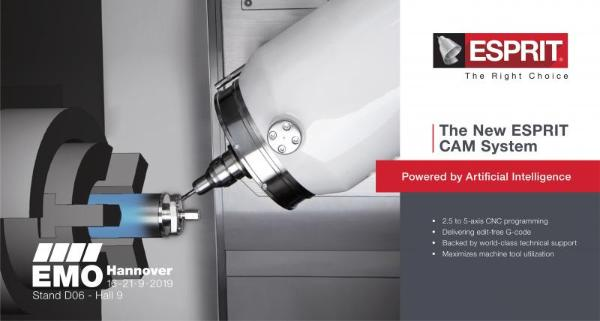 CAM software - ESPRIT 5-axis - Product - EMO 2019