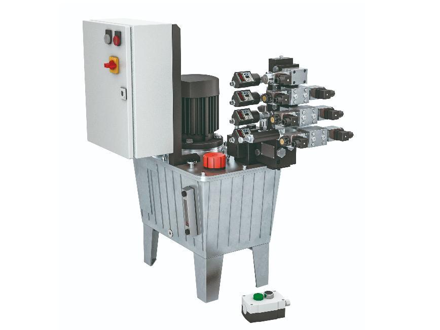 Logo Hydraulische Pumpe und Verteiler - Pumpenaggregat in Modulbauweise