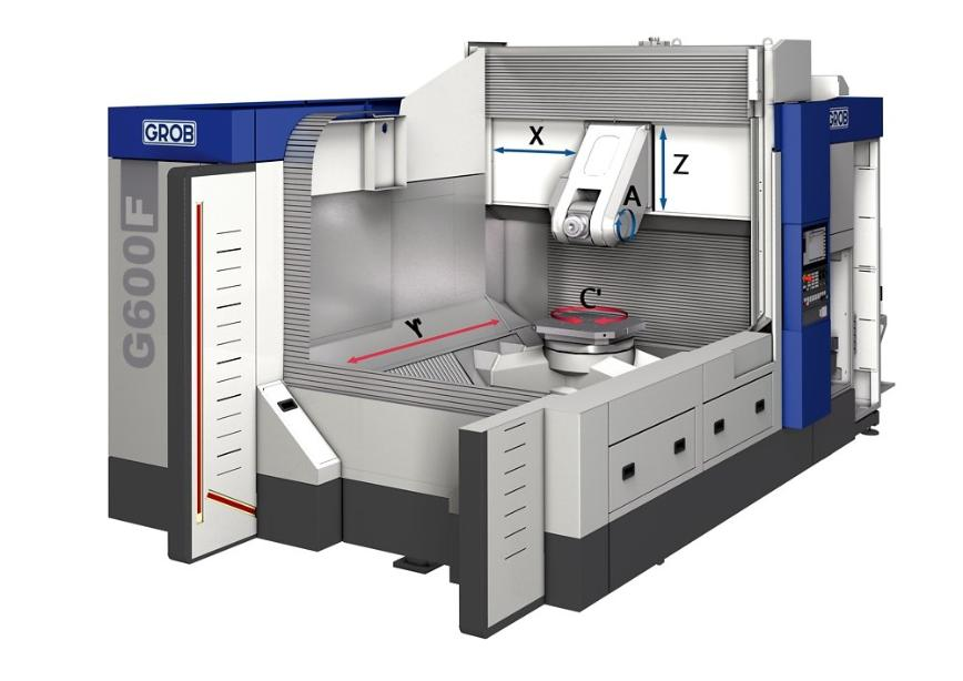 Logo machining centers for frame structure parts - G600F
