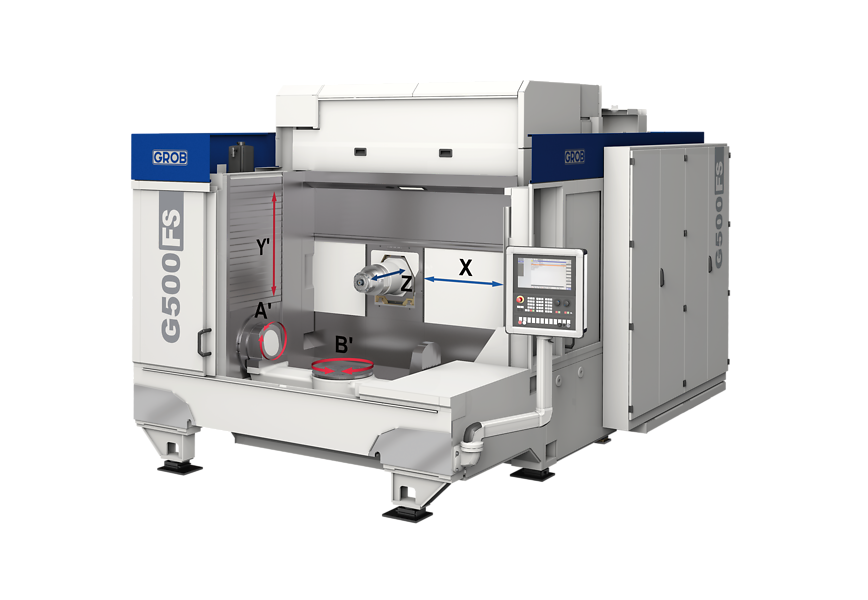 Logo machining centers for frame structure parts - G500FS
