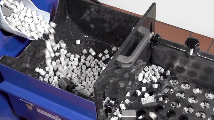 Logo Stone Vibration Deburring and Slide Grinding Machine - TV 95-SL