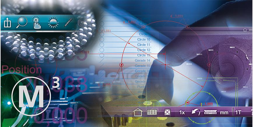Logo Auswerte- und Analysesoftware - M3 Messsoftware mit Bildverarbeitung
