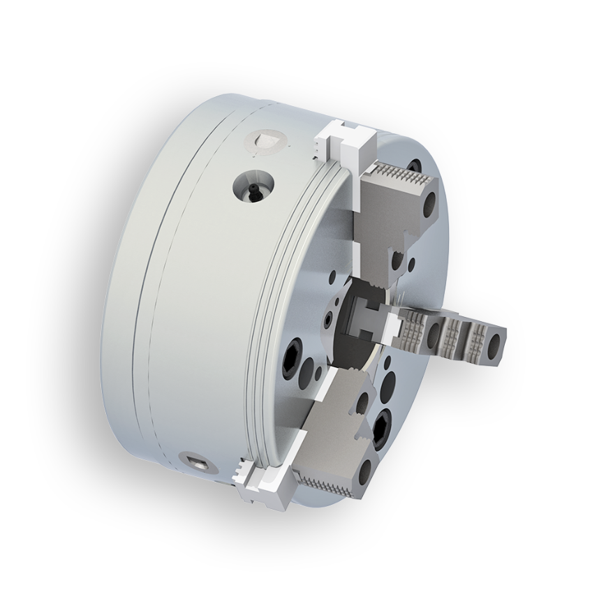Logo Lathe chuck, hand operated - Jaw chuck B-Top
