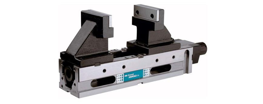 Logo Machine vice - Arnold 5X Mechanical with pressetting