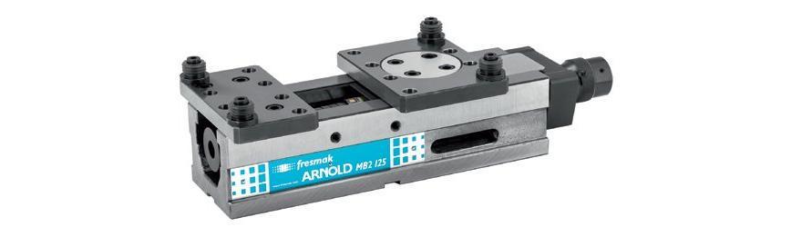 Logo Machine vice - Arnold Durmak Mechanical with pressetting
