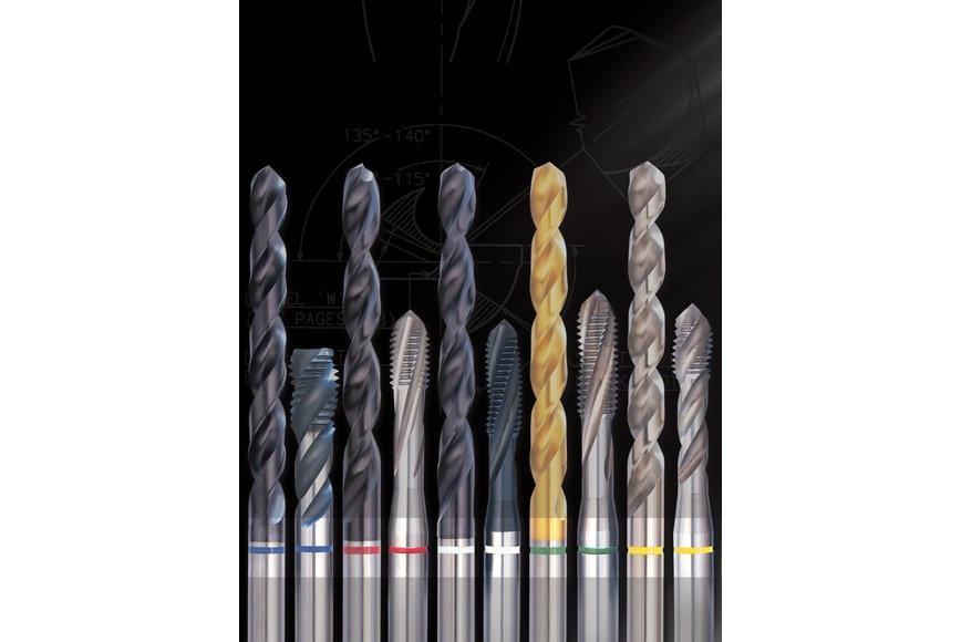Logo Spiralbohrer / Vollbohrer - Produktsortiment Mit Farbstreifenmarkierun