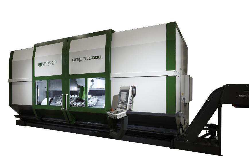 Logo Hochgeschwindigkeits-Bearbeitungszentrum - Unipro 5000