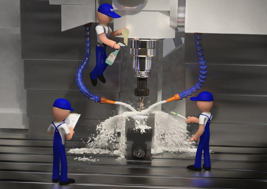Logo Kühlschmierstoff, - Wartung und Pflege - Coolant Management