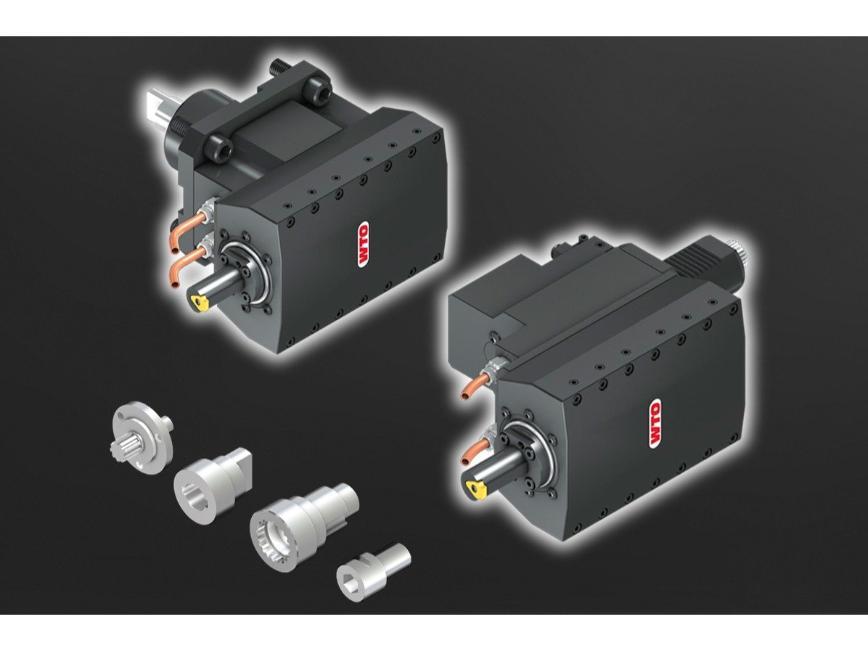 Logo Nuten und Verzahnungsstoßen - Stoßeinheit für CNC-Drehzentren