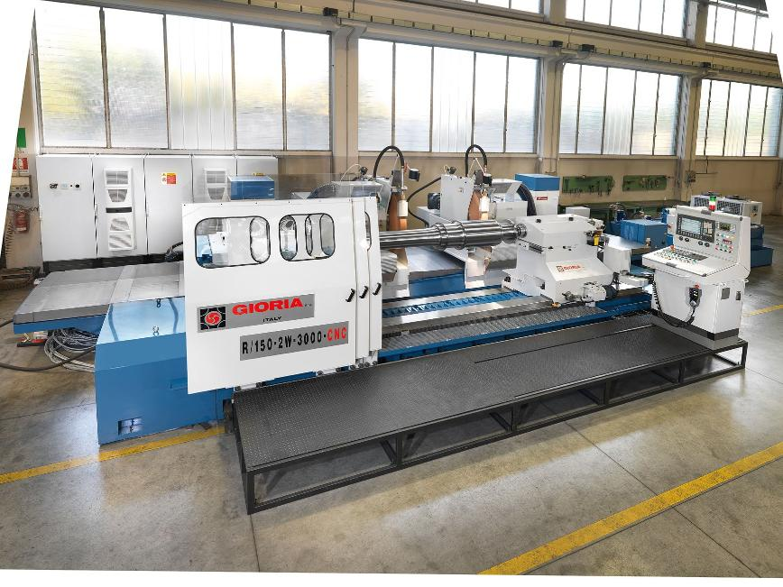 Logo Wheel moving cylindrical and roll grinding machine series R/150-CNC