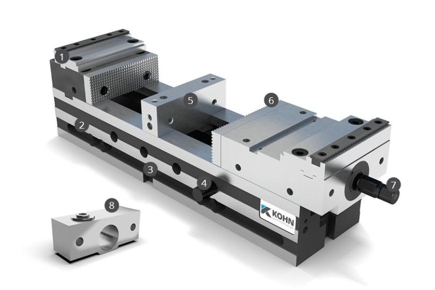 Logo Clamping device - NCS Machine Vice