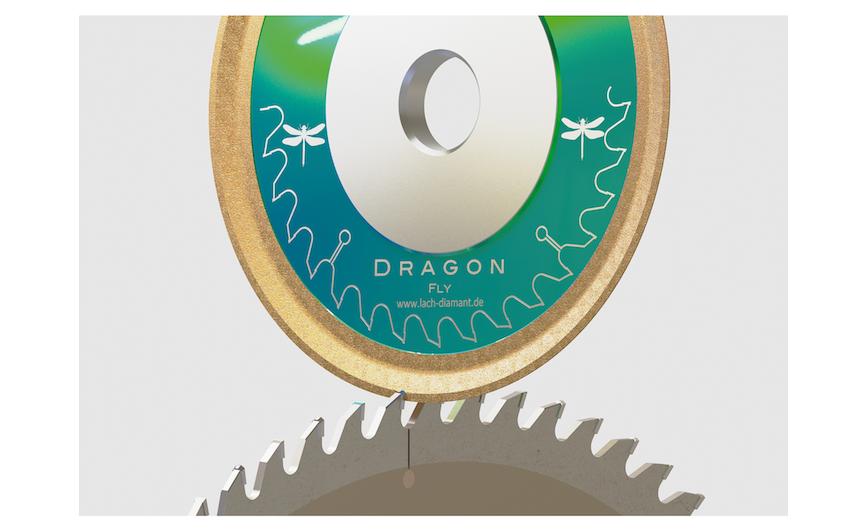 Logo Schleifen von Holz und Kunststoff-Bearbeitungswerkzeugen DragonFly