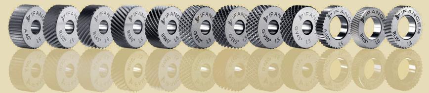 Logo Ifanger stellt verschiedene Randrierwerkzeuge und die dazupassenden Ha