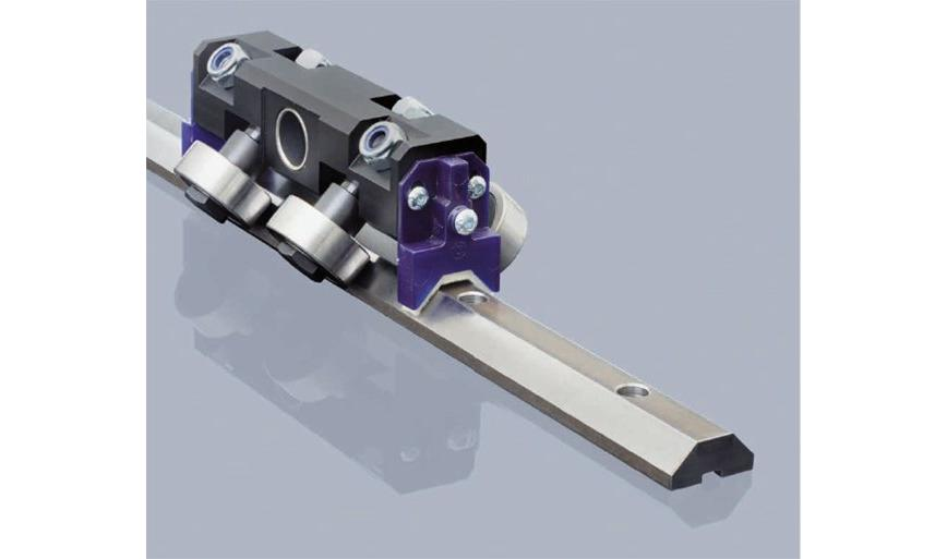 Logo Slide and ball bearing - Prismatic Rail with v-shaped raceways