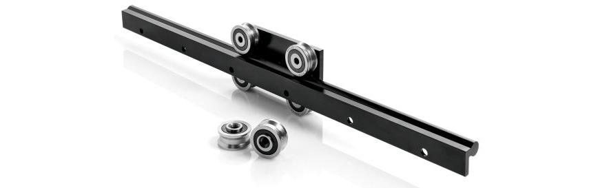 Logo Linear guide rail - O-Rail Modular linear guides with rollers