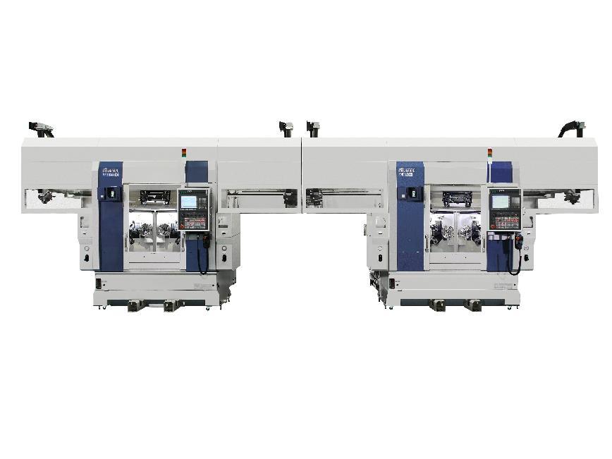 Logo Twin Spindle CNC Chucker MW120EX + CNC Turning Center MD120II