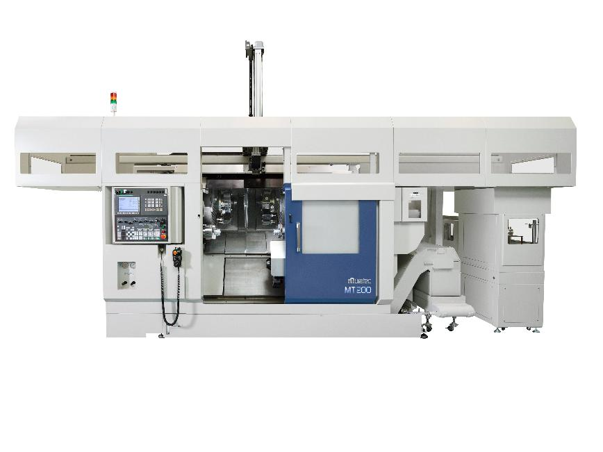 Logo In-line Opposed Twin Spindle CNC Turning Machine MT200