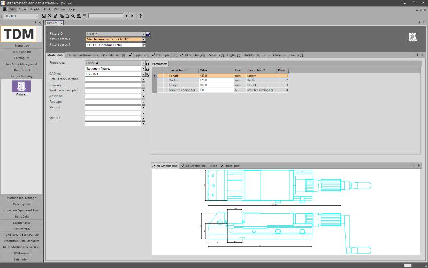 Logo Software for Production Equipment Management - TDM Fixture Module