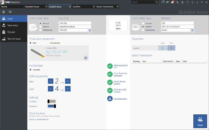 Logo Software for Shopfloor Management - TDM Tool Crib Module