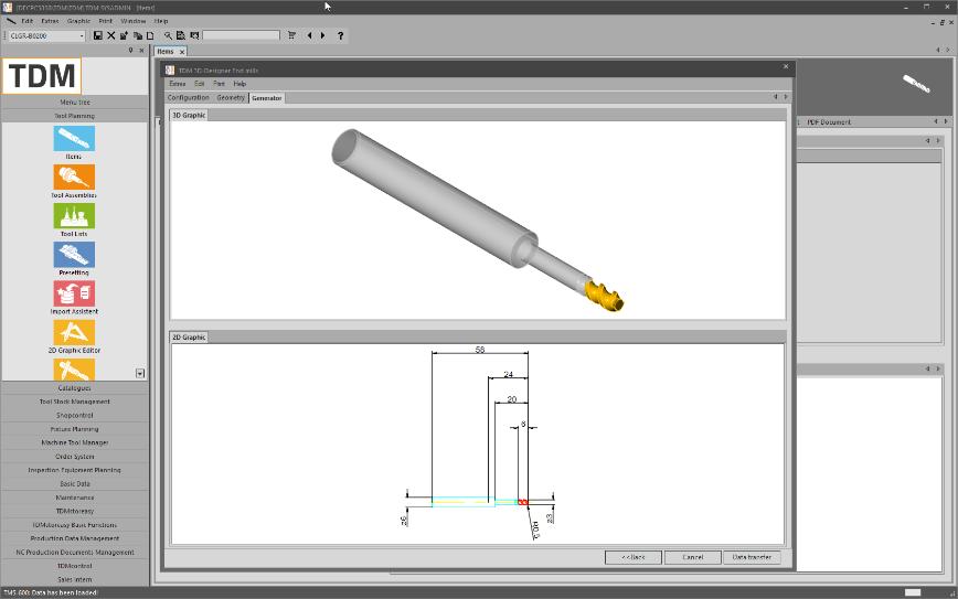 Logo Software for Data & Graphic Generation - TDM 3D-Designer for End Mills