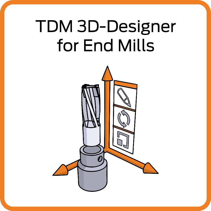 Logo TDM 3D-Designer Schaftfräser