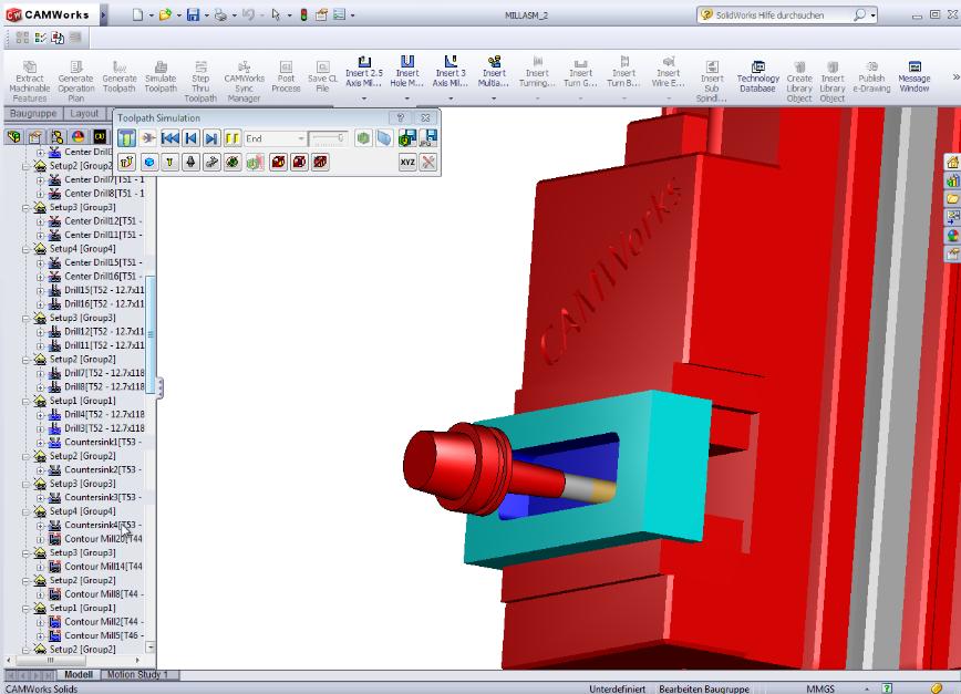 Logo CAM software - Interface TDM - CAMWorks