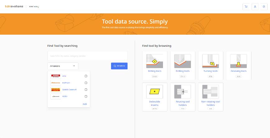 Logo Software zur Daten- & Grafikgenerierung - TDM WebCatalog