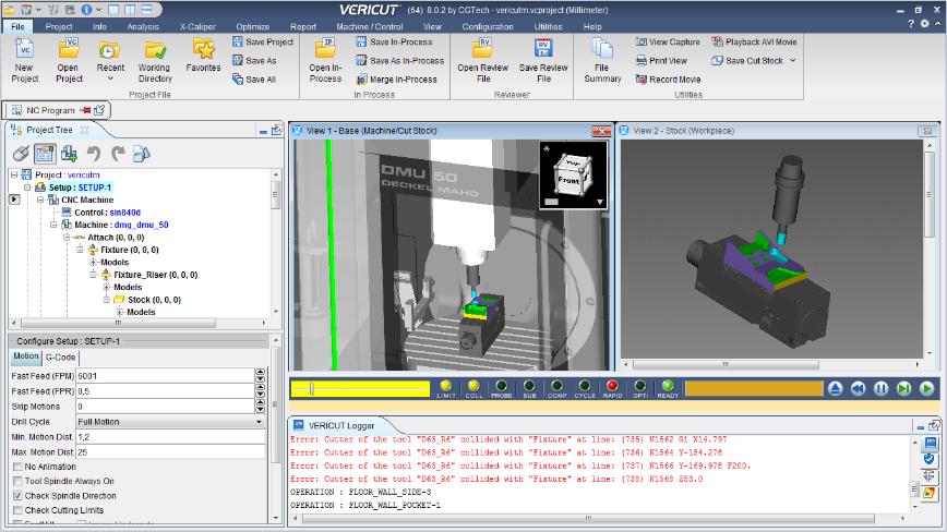 Logo CAM Software - Interface TDM - VERICUT