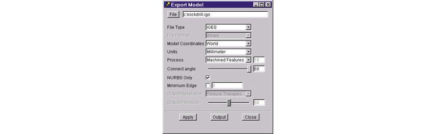 Logo Software for NC simulations - VERICUT Module: Model Export