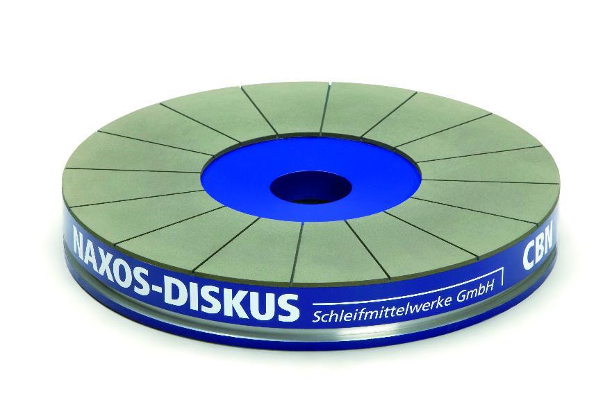 Logo NAXOS-DISKUS CBN- und Diamant-Planseitenschleifscheiben