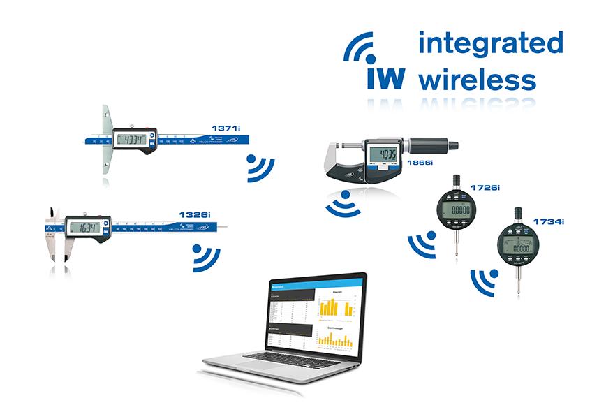 Logo Digitaler Taschenmessschieber IP 67, 150 mm, Integrated Wireless