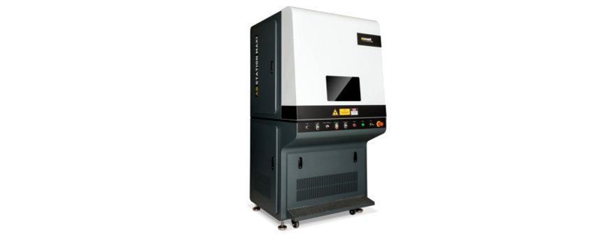 Logo Floor standing laser marking workstation - Workstation