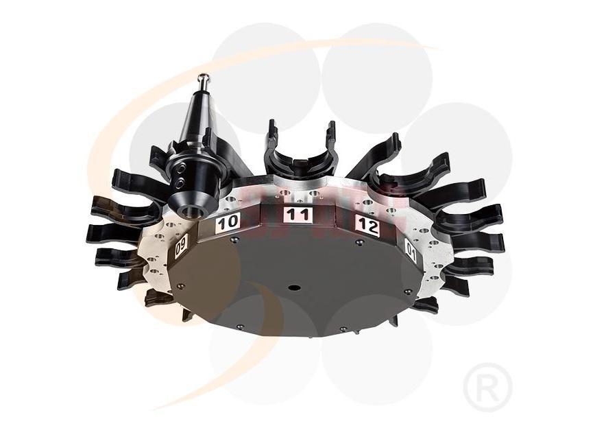 Logo Werkzeugwechsler und -speicher - DV - UMBRELLA TYPE TOOL MAGAZINE