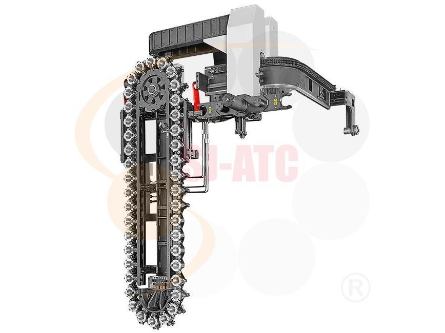 Logo HBC2 - CHAIN TYPE TOOL WITH HYDRAULIC RAIL ROBOTIC ARM ?