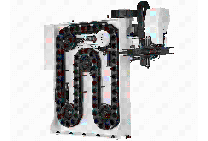 Logo HVC - TOOL MAGAZINE WITH HYDRAULIC ROBOTIC ARM