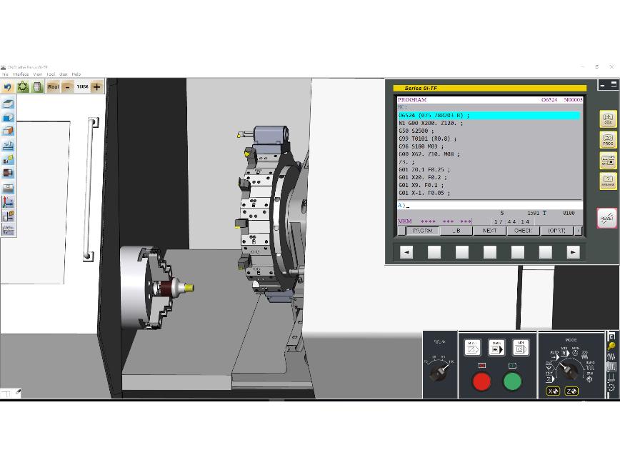 Logo CNC Virtual Machine-Series 0i-TF