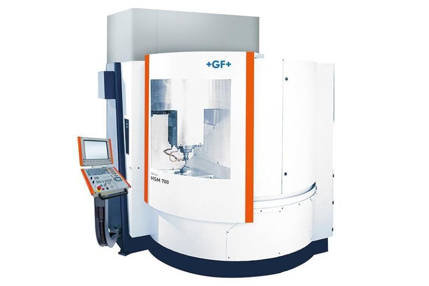 Logo Hochgeschwindigkeits-Bearbeitungszentrum - Mikron HSM 700