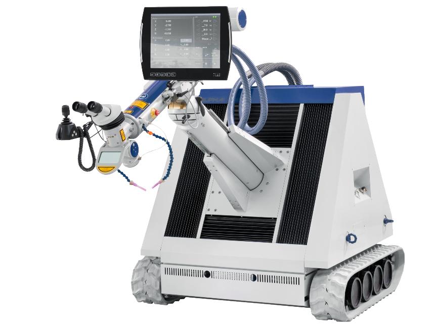 Logo Laser welding, laser powder cladding - ALFlak F mobile laser system