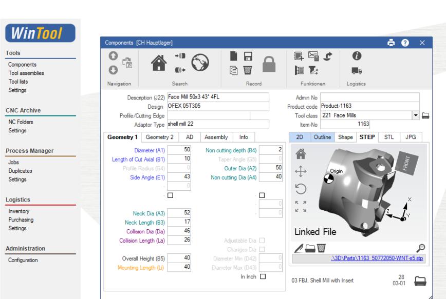 Logo Software für Werkzeugmanagement - WinTool Basispaket
