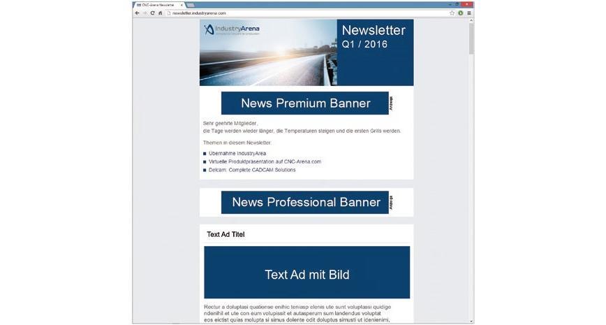 Logo Internet, e-commerce - IndustryArena Newsletter