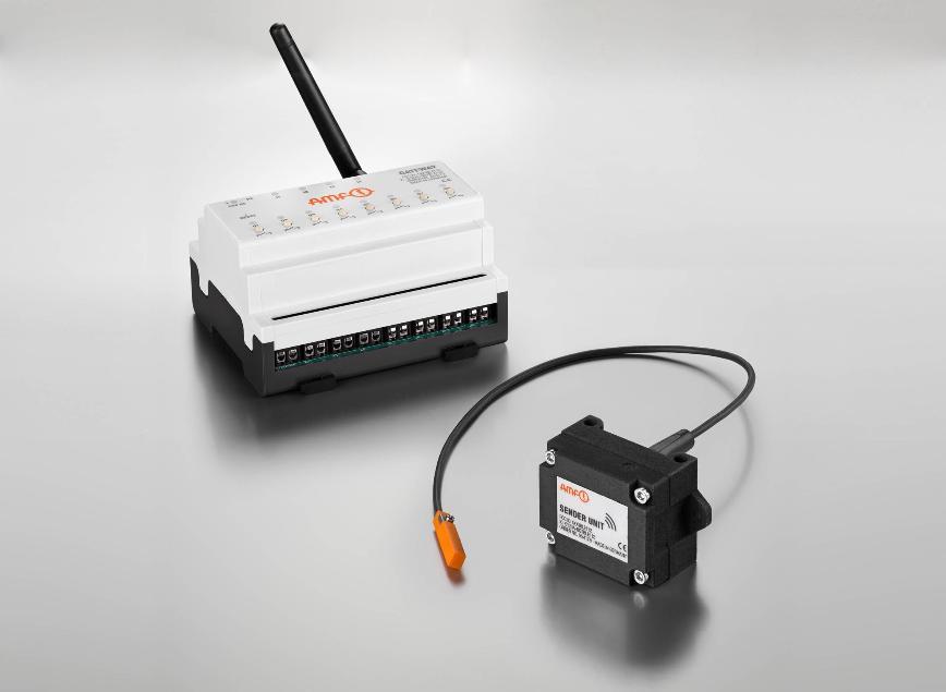 Logo Greifwerkzeug und automatische Spannvorrichtung - Funksensorik