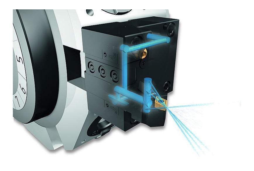 Logo Vierkant-Werkzeughalter mit interner Kühlmittelzufuhr
