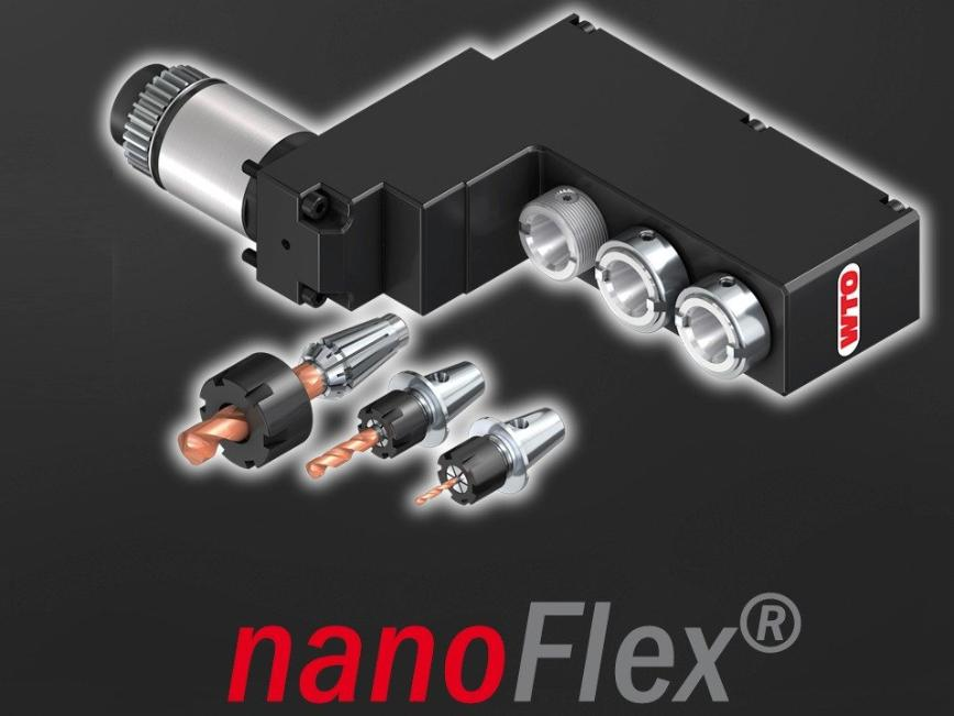 Logo Tool holder - nanoFlex® Quick Change System for Swiss Type