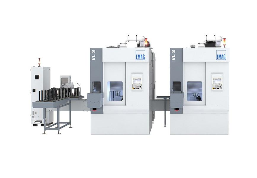 Logo High-productivity pick-up turning center with a large degree of intern
