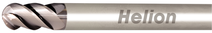 Logo Radiusfräser / Rundprofilfräser - SOLID CARBIDE BALL NOSE END MILL Z4