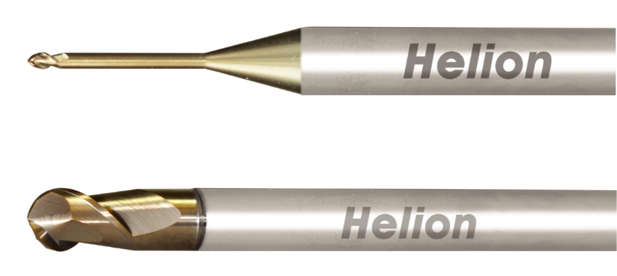 Logo Ball nose end mill - SOLID CARBIDE BALL NOSE END MILL ALU Z2 · 45°
