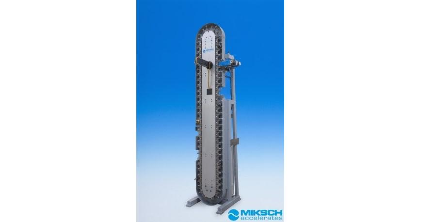 Logo Storage of workpieces and tools - MCM chain magazine with transfer uni